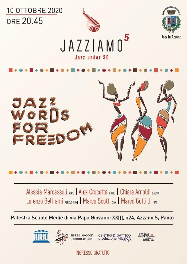 Jazz Words for Freedom - Jazziamo 2020